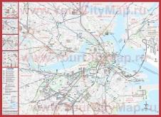 Подробная карта Бостона
