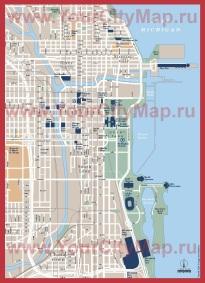Карта центра Чикаго
