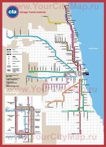 Карта метро Чикаго (схема)