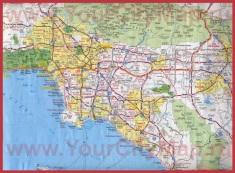 Карта дорог большого Лос-Анджелеса с окрестностями