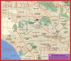 Карта Лос-Анджелеса на русском языке с достопримечательностями