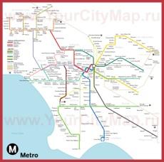 Карта метро Лос-Анджелеса (схема)