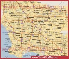 Карта районов Лос-Анджелеса