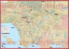 Подробная карта Лос-Анджелеса
