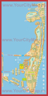 Карта Майами-Бич