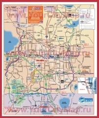 Подробная карта города Орландо с окрестностями