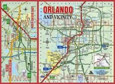 Туристическая карта Орландо с достопримечательностями