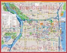 Подробная карта города Филадельфия
