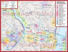 Туристическая карта Филадельфии  с достопримечательностями