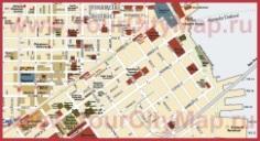 Карта центра Сан-Франциско с достопримечательностями