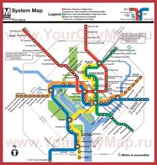 Карта метро Вашингтона (Схема)