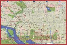 Подробная карта Вашингтона