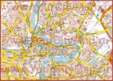Карта Берна с достопримечательностями