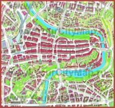 Туристическая карта центра Берна
