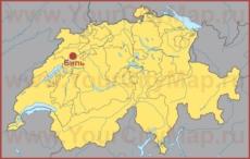 Биль на карте Швейцарии