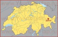 Давос на карте Швейцарии