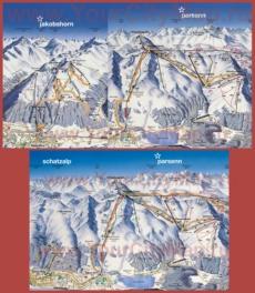 Карта горнолыжных трасс Давоса