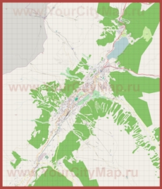 Подробная карта города Давос