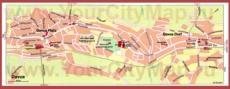 Туристическая карта Давоса с достопримечательностями