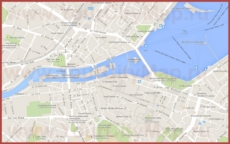 Карта Женевы на русском языке с улицами