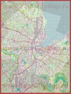 Подробная карта города Женева