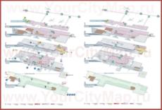 Подробная схема аэропорта Женевы