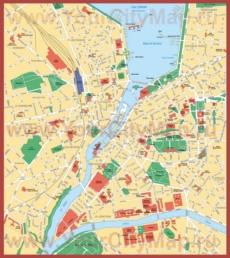 Туристическая карта центра Женевы