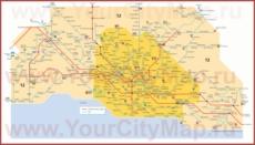 Карта маршрутов транспорта Лозанны