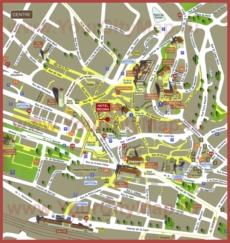 Туристическая карта центра Лозанны