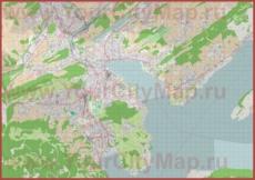 Подробная карта города Люцерн