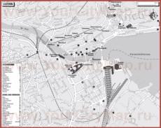 Туристическая карта Люцерна с отелями и ресторанами