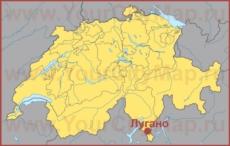 Лугано на карте Швейцарии