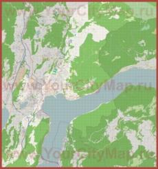Подробная карта города Лугано