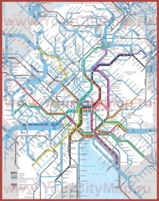 Карта маршрутов транспорта Цюриха