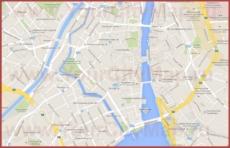 Карта Цюриха на русском языке с улицами