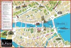 Шоппинг карта Цюриха с магазинами