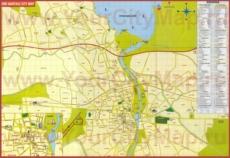Подробная туристическая карта города Адана с отелями, достопримечательностями и магазинами