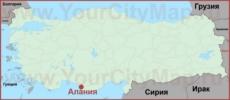 Алания на карте Турции