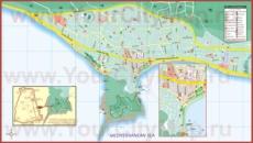 Подробная туристическая карта города Алания
