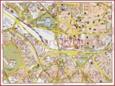 Карта центра Анкары с достопримечательностями