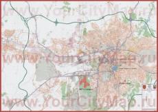 Подробная карта города Анкара