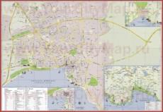 Подробная карта города Анталия
