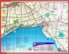 Туристическая карта Анталии с достопримечательностями
