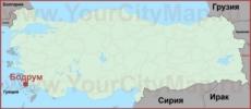 Бодрум на карте Турции