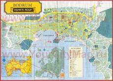 Туристическая карта Бодрума с достопримечательностями