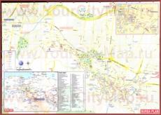 Подробная карта города Бурса