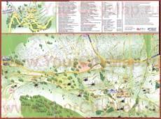 Подробная туристическая карта города Бурса с достопримечательностями