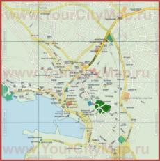 Подробная туристическая карта города Чешме