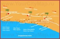 Карта отелей Чолаклы