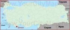 Демре на карте Турции